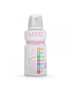 Дезодорант з дією антиперспиранта спрей. Жіночий LECO Seven Active for women, 150мл